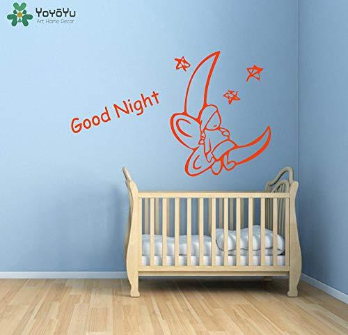 zhuziji Yoyoyu Sleeping Baby Wandaufkleber Vinyl Removable Fairy Quotes Gute Nacht Wandtattoo Für Kinderzimmer r Decor Mura 91x57 cm