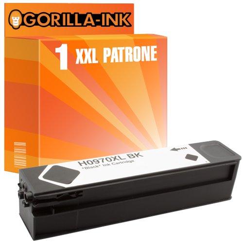 450 Schwarz Tinte (Gorilla-Ink 1x Tinten-Patrone XXL kompatibel mit für HP 970XL-971XL Schwarz Pigment-Tinte OfficeJet Pro X 450 Series 451 DN 451 DW 470 Series 476 DN 476 DW 551 DW 576 DW)