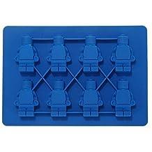 jooks silicona figura forma Cubito de hielo bandeja Moldes de silicona bandeja de hielo moldes Candy moldes Chocolate moldes para niños del partido y temas de construcción (azul)