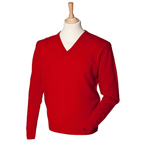 henbury-lambswool-v-neck-sweater-color-classic-red-size-l