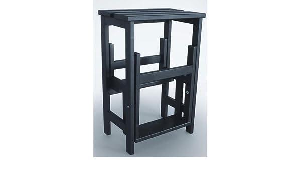 Hockerleiter schwarz VAL15619