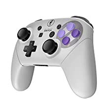 MASCARRY Replacement Shell Case for Switch Pro Controller, Super Switch DIY Faceplate and Backplate Case with Replacement Buttons and Handles for Switch Pro Controller (Snes Classic)
