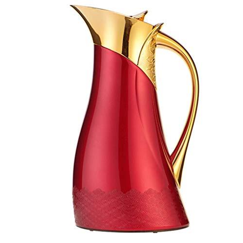 MYXMY Haushalts-Umweltglas mit großer Kapazität Thermische Karaffe | Vakuumisolierte Kaffeekanne | Warmer und kalter Getränkespender / 1 Liter | Orientalische Features Körper mit sexy Form | Gute Gesc