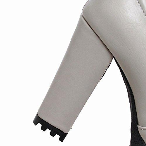 MissSaSa Donna Alto Scarpe col Tacco Alto Spicco e Punk Grigio