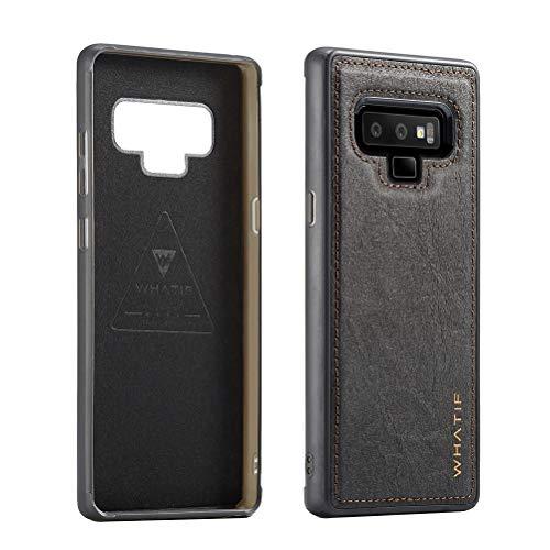 Kraftpapier Design Leder Handyhülle Schutz staubdicht Drop Resistance Phone Case Shell für Samsung Galaxy Note 9 (Schwarz), Black Samsung Galaxy Note 9