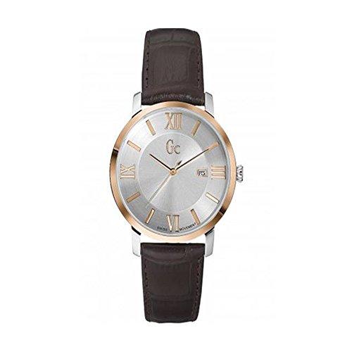 Guess X60019G1S–Montre de Poignet pour homme, bracelet en cuir marron