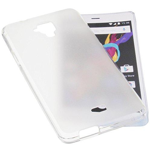 foto-kontor Tasche für Archos 50 Titanium 4G Gummi TPU Schutz Handytasche transparent weiß