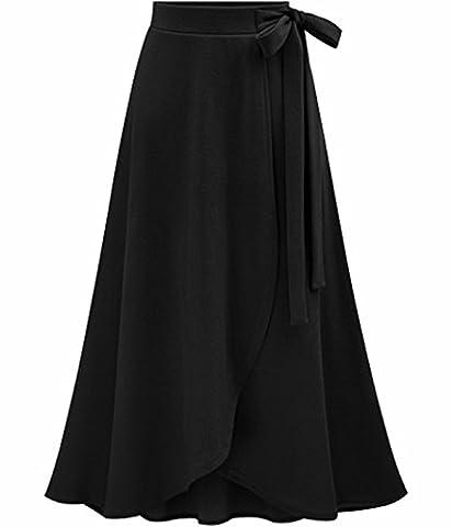 UMilk Femme Jupe maxi irrégulière à genouillère taille haute taille