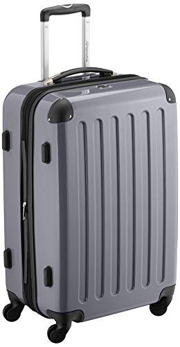 HAUPTSTADTKOFFER - Alex - Hartschalen-Koffer Koffer Trolley Rollkoffer Reisekoffer Erweiterbar,  4 Rollen, 65 cm, 74 Liter, Silber