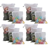 Beddify Set of 12 Premium Reusable Fridge Storage Bag for Vegetables and Fruits Zipper (4 Small, 4 Medium & 4 Large Size Bag)