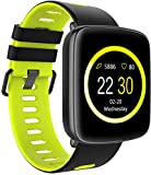 SmartWATCH Active-Sports Bluetooth Fitness Uhr für Android Smartphones (Whatsapp*, Wasserdicht) Grün