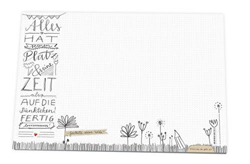 A3 Schreibtischunterlage mit Punkteraster aus Papier zum Abreißen, 30 x 42 cm, 25 Blatt...