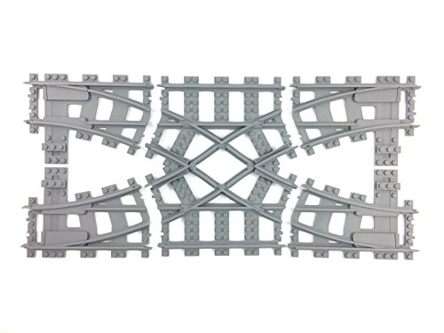 Trixbrix Double Crossover R40, Compatible with Lego Train ...