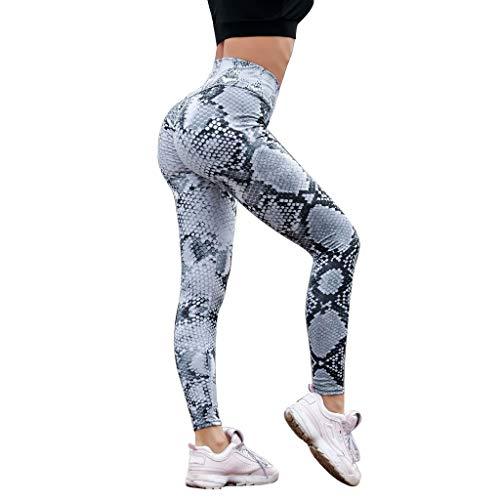 Sonnena Schlangenprint Patchwork Sport Leggings Damen Sporthose Yogahose Fitnesshose Yoga Leggings Hoher Bund Joggen Leggings Sporthose Laufhose (Kostüme Online Hund)