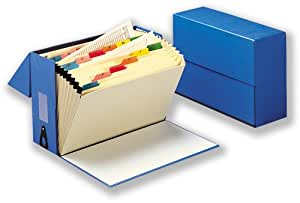 5 Star Office Expanding Box File 20 Pockets A-Z Foolscap Blue