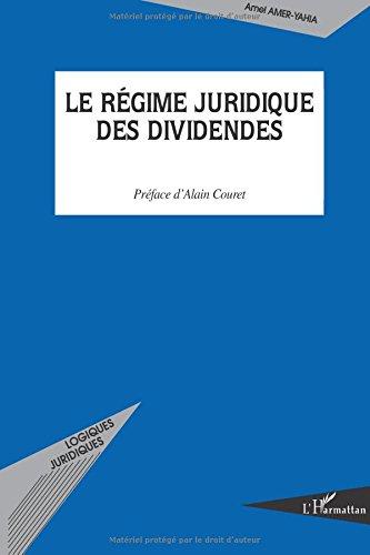 Le régime juridique des dividendes