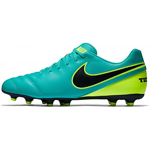 Nike Tiempo Rio Iii Fg, Chaussures de Football Homme Clear Jade/Black-Volt