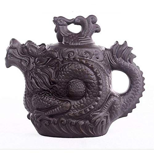 Keramische Handgemachte Teekanne Dragon Phoenix Pot Premium 530Ml Tee-Ei-Ton-Set Wasserkocher Kung Fu Kaffee, Teekanne