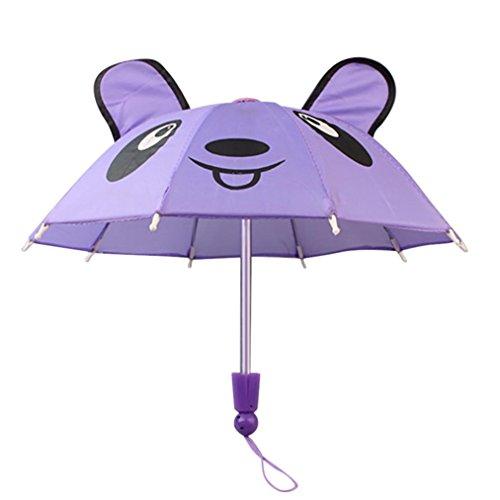 Puppe Regenschirm 45,7cm mingfa Cute Panda Ohr handgefertigt Regenschirm Puppe Zubehör für American Girl Puppe Baby Born Unsere Generation (Br-baby-puppe)
