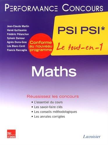 Maths 2e année PSI PSI*