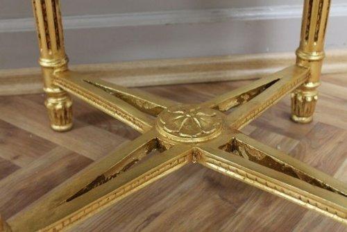 Tavolino Rotondo Da Salotto Antico.Barocco Tavolo Tavolino Da Salotto Rotondo Legno Stile Antico