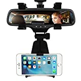 #9: LovelyNetworks Car Phone Holder Car Rearview Mirror Mount Phone Holder 360 Degrees for iPhone Samsung GPS Smartphone Stand Universal
