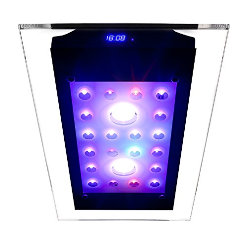 eSmart Germany | Sea Nemo Glass 2 | Aquariumbeleuchtung für Meerwasser | 110 W | 9.000 lm | Programmierbar | inkl. Kühlung | Stein- und Weichkorallen