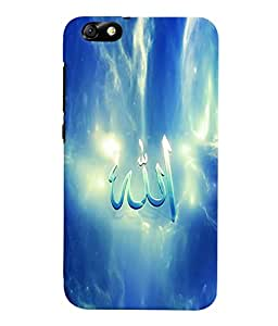 Fuson 3D Printed Lord Allah Designer Back Case Cover for Huawei Honor 4X - D552