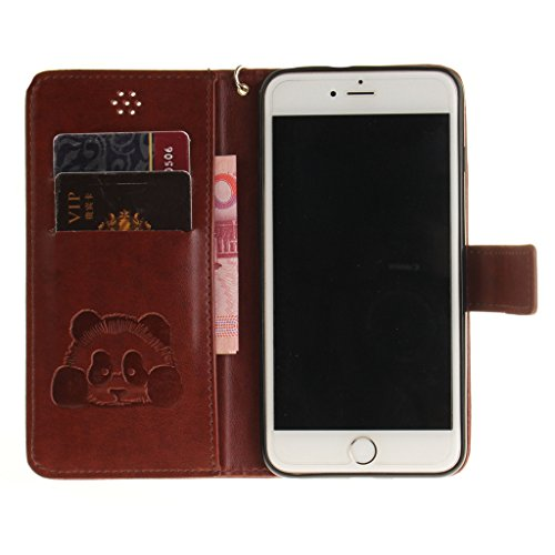 "iphone 6 Plus Coque, Mythollogy Étui à rabat Housse avec Dragonne Pure Couleur PU Cuir Portefeuille Coque de Protection Antichoc Case Cover Pour iphone 6S Plus 5.5"" [ONLY] - Marron Marron"
