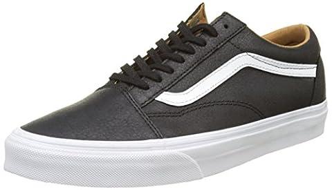 Vans Men UA Old Skool Low-Top Sneakers, Black (Premium Leather Black/True White), 6 UK 39 EU