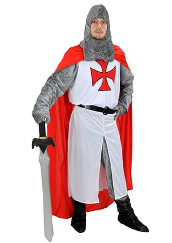 RITTER KOSTÜM KARNEVAL FASCHING KREUZRITTER TEMPELRITTER NEU ANGEBOT DER (Kostüme Für Planet Erwachsene)