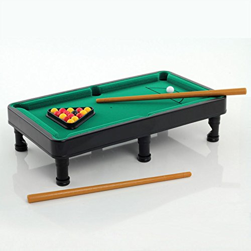 Generic ycuk2_ 150815_ 12< 1& 4436* 1-pp0584table Set–Queues Pool Tisch Büro-Set, Mini-Schreibtisch-Halterung, pp0584Mini - Pool Cue-racks