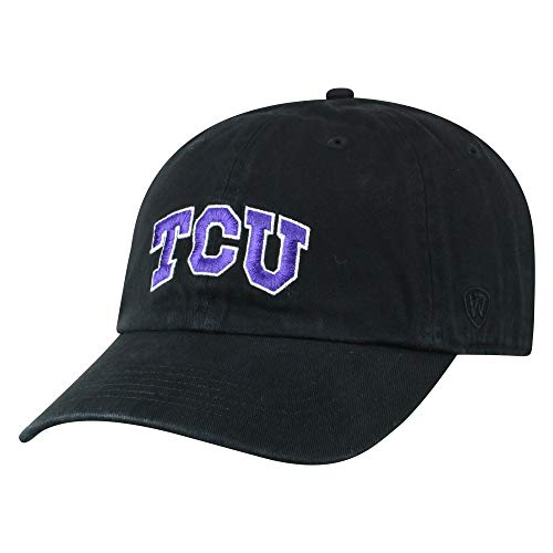 213ba25cddbdd NCAA TCU Horned Frogs Men s Adjustable Relaxed Fit Black Icon Hat