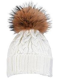 7d7ef43b17824 Amazon.es  gorros con pompon de pelo mujer - Ropa especializada  Ropa