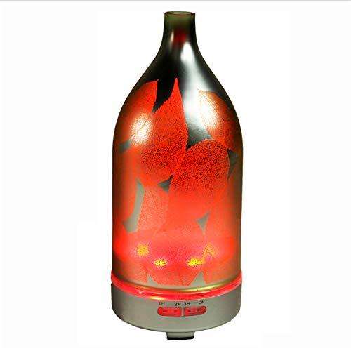 UNIQUE-F Aromatherapie Luftbefeuchter Maple Leaf Bunte 120ML Diffusor Milchglas Rutschfeste Basis verschleißfeste Lange Lebensdauer -
