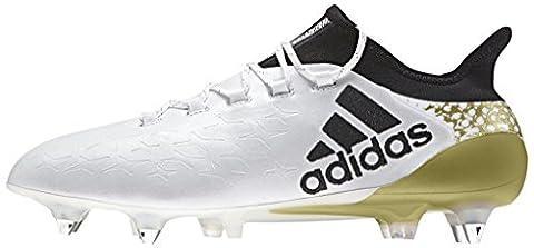 adidas Herren X 16.1 Sg Fußball-Trainingsschuhe, Multicolore (Ftwwht/Cblack/Goldmt), 45 1/3