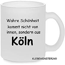 """'Taza con texto: """"La belleza se No de interior, sino de Colonia... Regalo Cumpleaños Té Taza de café Cerámica trabajo Chef Oficina."""
