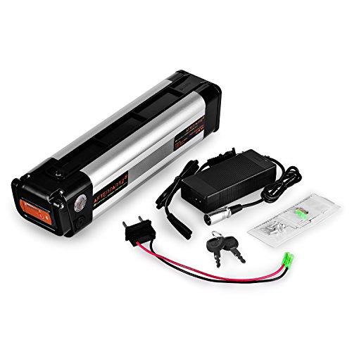 AFTERPARTZ® Fisch 36V 10.4Ah Elektrofahrrad Akku Umbausatz Lithium Batteriezelle E-BIKE Ersatzakku LI-Ionen mit Halterung und Ladegerät - 6