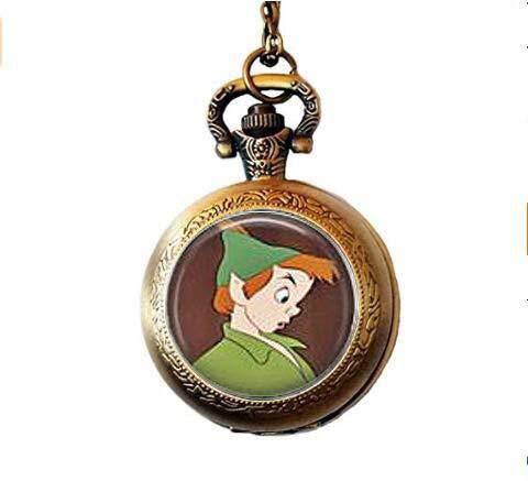 bab Peter Pan & Wendy Darling Taschenuhr Halskette Peter Pan Darling