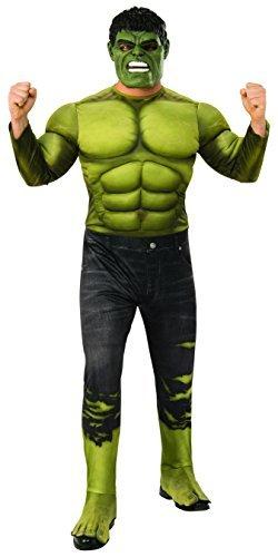 Marvel - Disfraz de Hulk para hombre (Infinity Wars), Talla M/L adulto (Rubies 821000-STD)