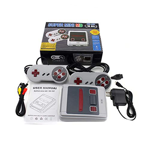 Mapleit mini md game console host 16-bit game console memory 1g built-in 167 giochi, gioco esclusivo