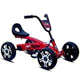 NSK Bike Kid LLP Pedale Go Kart Bambini Ride On Toy Car 4 rotelle di Bicicletta Spingere Bici (Red) (Colore : Red)