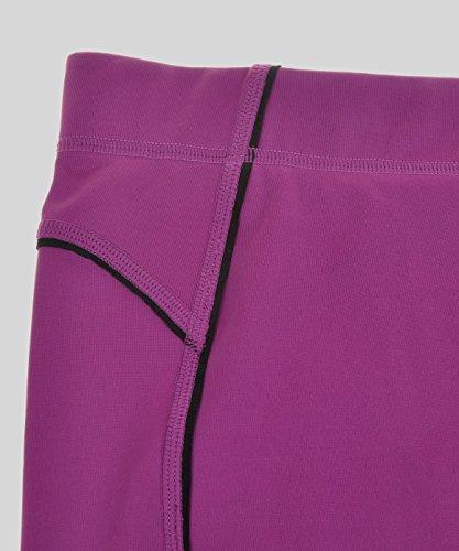 SYROKAN Femme Leggings de Sport Pantalons Capri Jogging Yoga Collants Violet