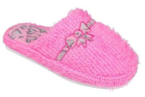 GIBRA Damenpantoffeln mit weißer Sohle, pink, Gr. 36-41 Pink