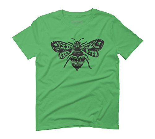 Fantastic Bee in Black Men's Graphic T-Shirt - Design By Humans Green