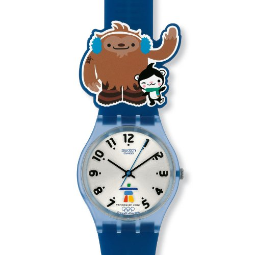Swatch Unisex-Armbanduhr Analog Silikon Sporty Friends GZ211 - 2