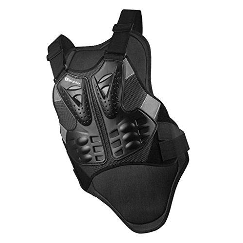 Sharplace-Giubbotto-da-motociclista-armatura-gilet-protezione-di-colonna-petto-nero