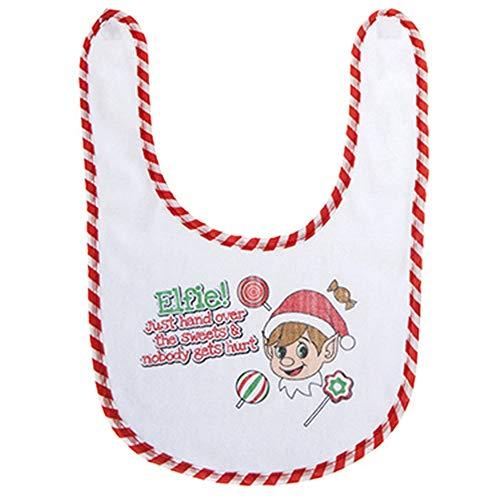 Christmas Shop Baby-Lätzchen mit Weihnachtsspruch (Einheitsgröße) (Hand over the sweets)