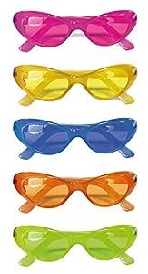 Non Concerne Rubies-152007-Accesorio para Disfraz-Parte del Cuerpo-Gafas Disco-Color Aleatorio