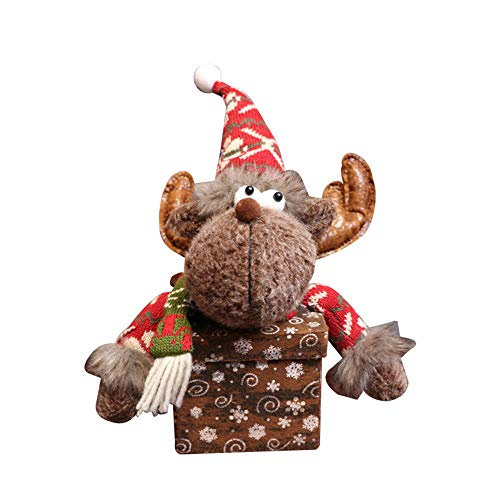 (Malloom, Frohe Weihnachten Kinder Weihnachtsmann Schneemann Elch Süßigkeiten Verpackung Candy Box Weihnachten Apple Box Schneeflocke Kreative Süßigkeiten Geschenkbox)
